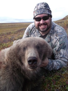 Author with Grizzly Bear
